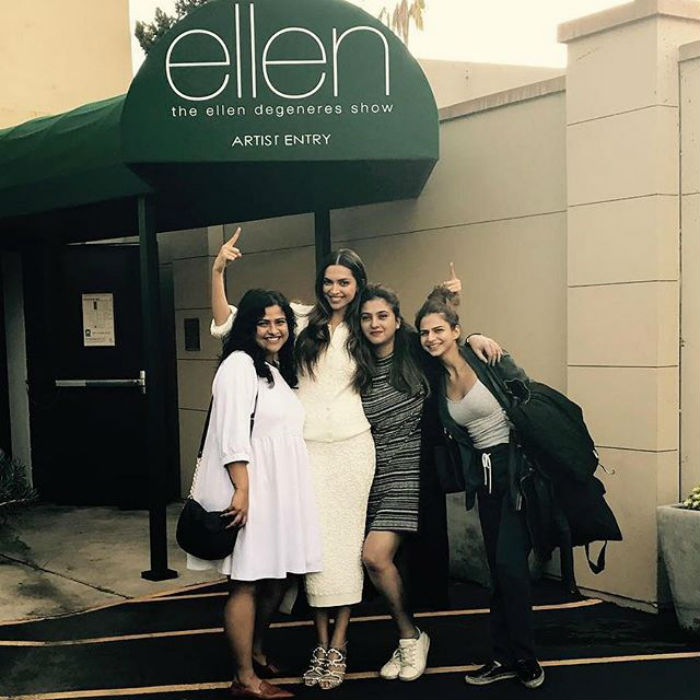 Deepika Padukone shoots for The Ellen Degeneres Show
