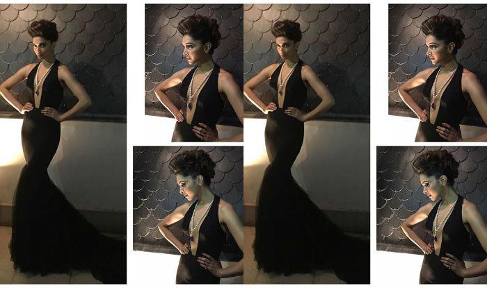 Deepika in Swapnil Shinde black gown