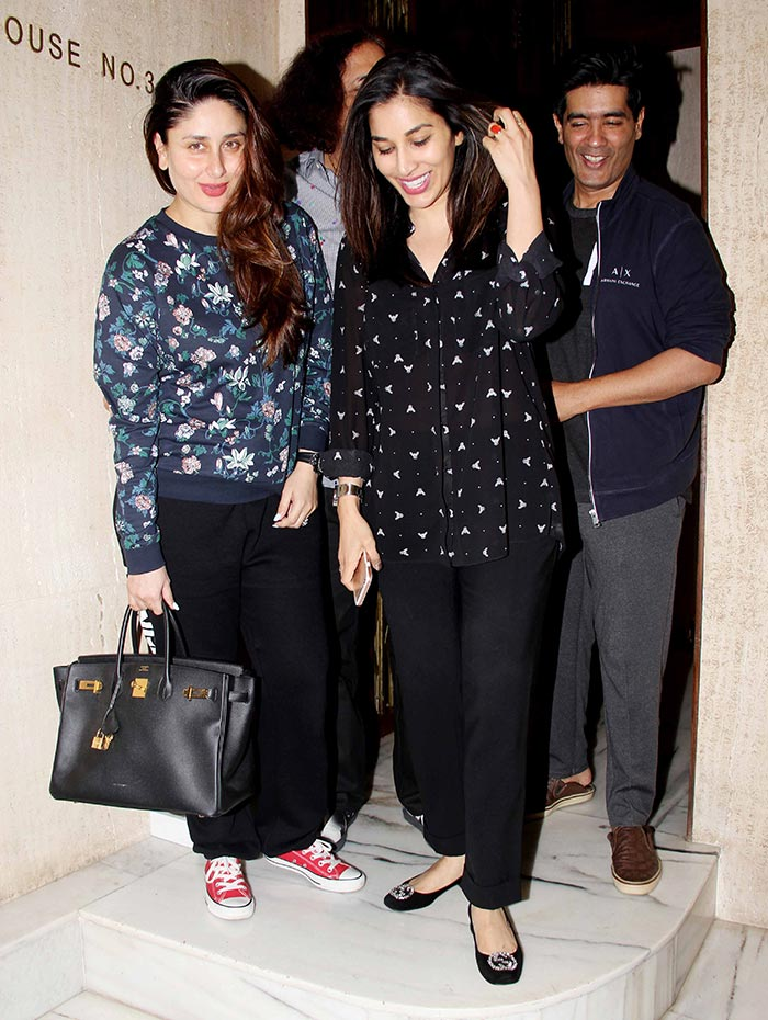 Sexy momma Kareena Kapoor Khan back to partying mode- meets Manish ...