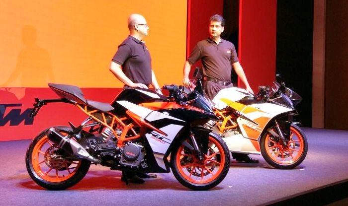 2017 ktm rc 390, ktm rc 200 launched; price in india starts from