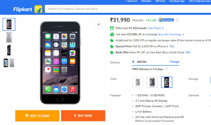 Flipkart Apple Fest: iPhone 7 and iPhone 6 gets flat Rs 5000 off, discounts on Macbook Air and other products too