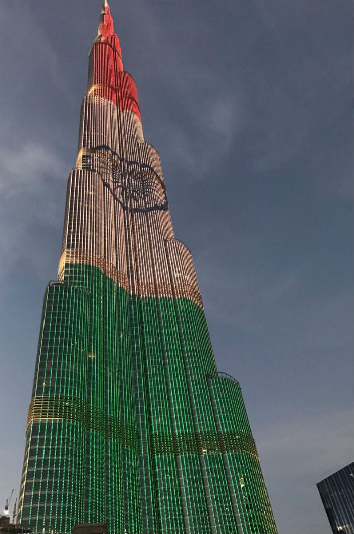 Afghanistan Flag On Burj Khalifa