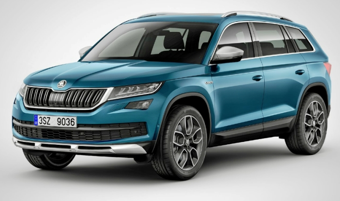 skoda kodiaq suv uncamouflaged images spotted testing in india. Black Bedroom Furniture Sets. Home Design Ideas