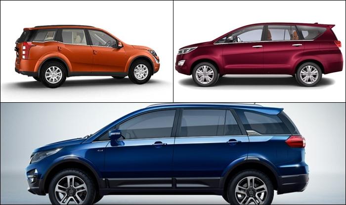 Tata Hexa Vs Mahindra Vs Toyota Innova Crysta Price
