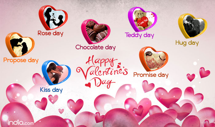 Valentine Week List 2017 Rose Day Propose Day Kiss Day Complete