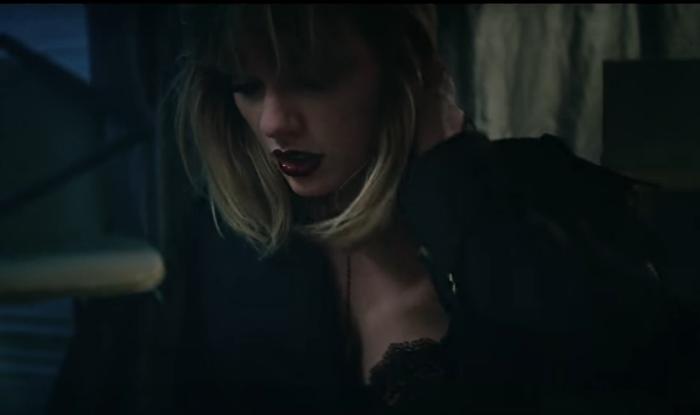 Taylor's dark lips