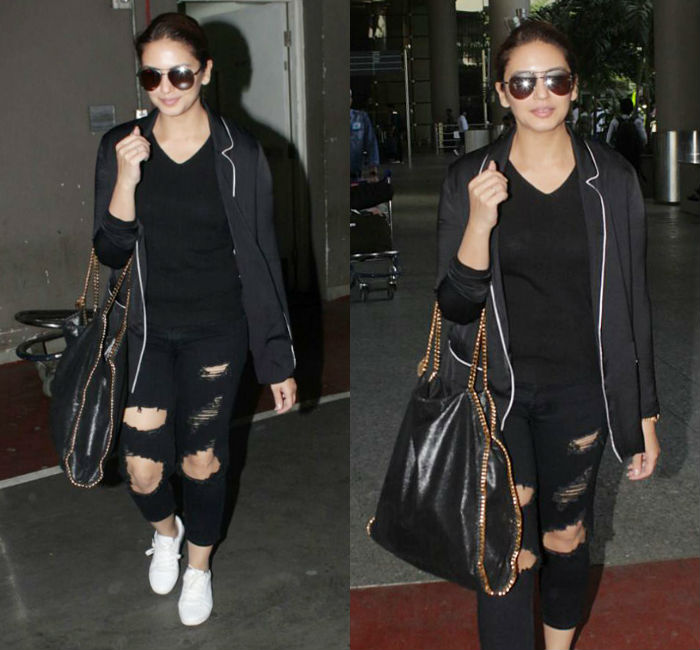 Huma Qureshi Airport Style