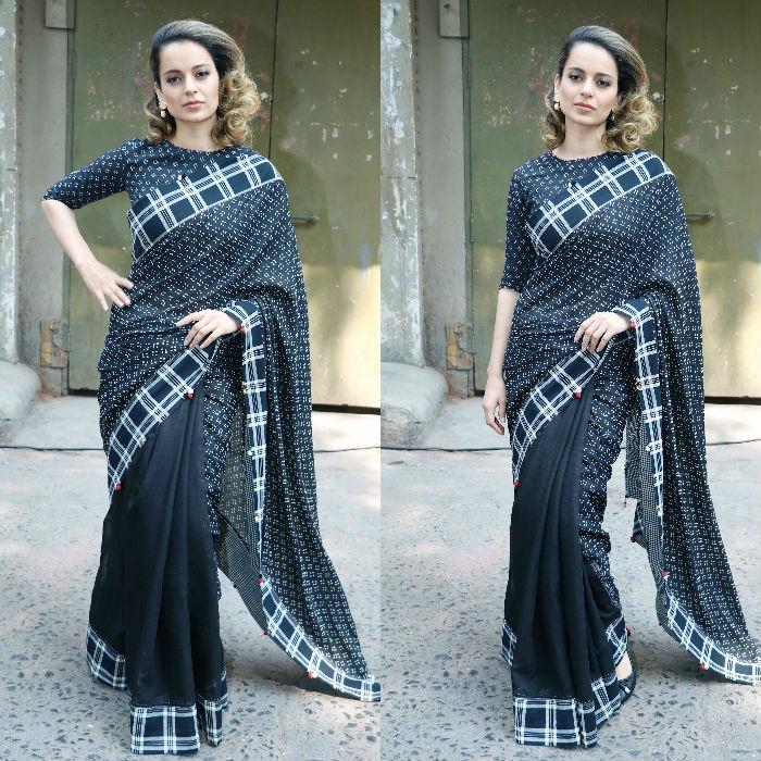 Kangana Ranaut Saree Promotional Style 7