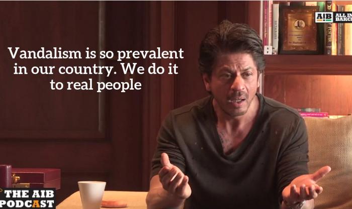 SRK on vandalism