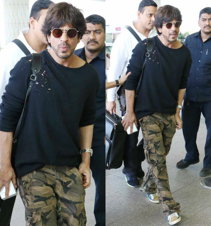 Shah Rukh Khan Airport Style