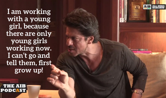 Shah Rukh Khan on working with young girls