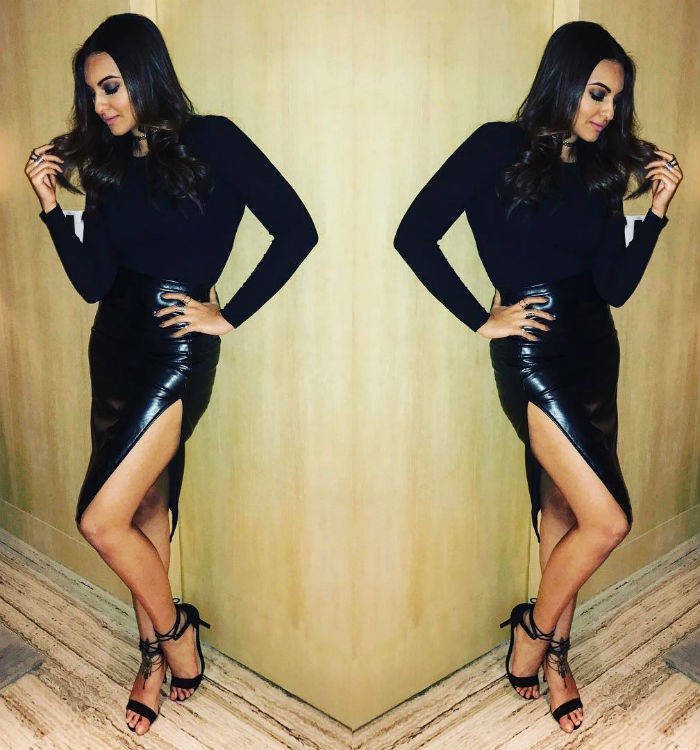 Sonakshi Sinha Leather by night stylefile
