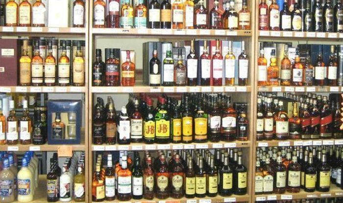 Representational image of liquor bottles at a liquor vend.