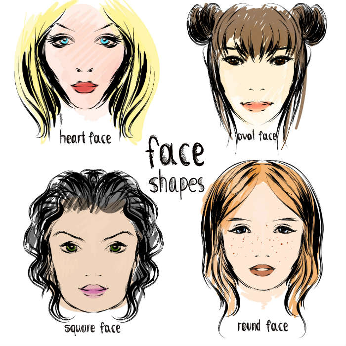 Haircuts according to face shape: How to choose haircuts for round, oval, square and heart ...