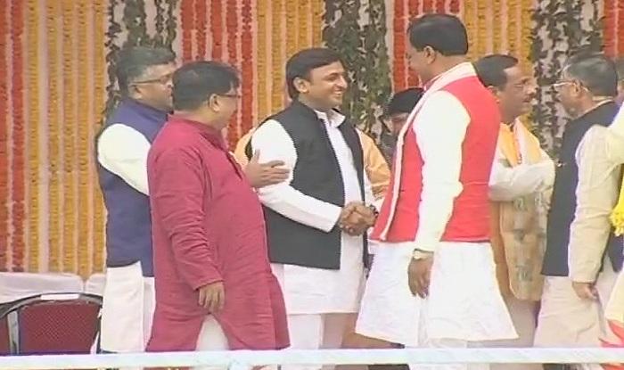 Akhilesh Yadav, Mulayam Singh Yadav attend Yogi Adityanath's swearing-in as 21st Chief Minister of Uttar Pradesh