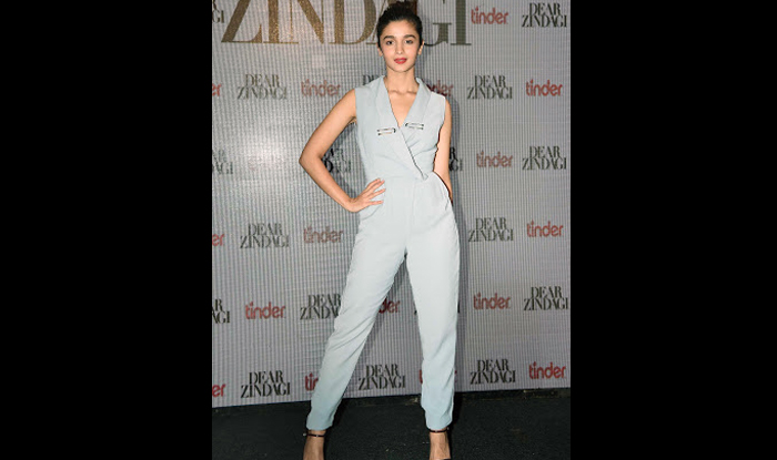 Alia Bhatt in Lavish Alice jumpsuit for Dear Zindagi song launch