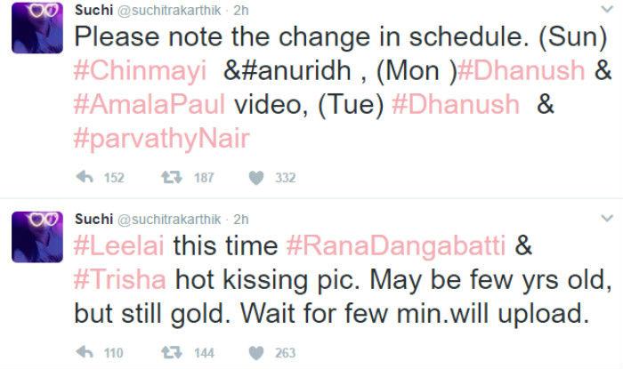 Suchitra Karthik Twitter Dhanush online picture1