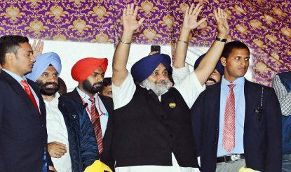 Punjab's deputy chief minister Sukhbir Singh Badal