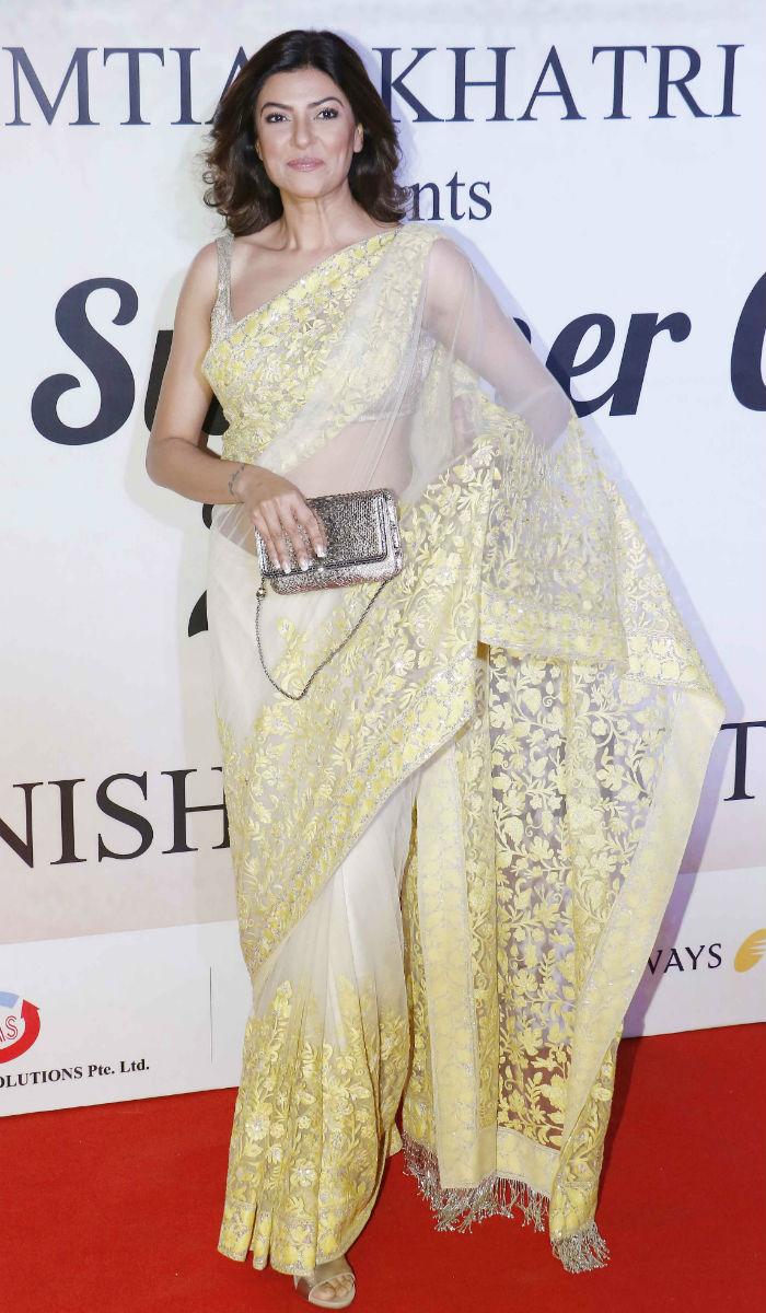 Sushmita Sen saree style