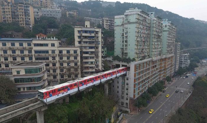 china building, train