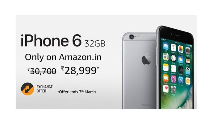 iphone 6 32gb version up for sale on amazon india for rs. Black Bedroom Furniture Sets. Home Design Ideas