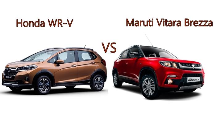 Honda WR-V vs Maruti Vitara Brezza: Compare Price, Features, Specifications - India.com