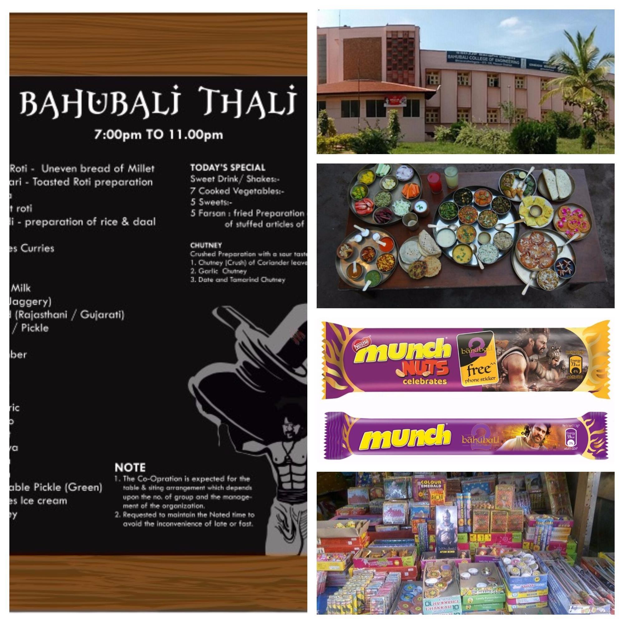 Baahubali Thali, Chocolates, Crackers and college