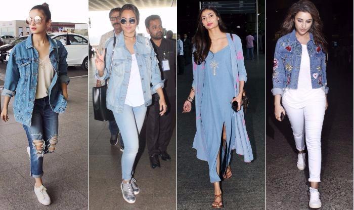 Celeb Airport Style This Week Alia Bhatt, Sonakshi Sinha, Athiya Shetty, Parineeti Chopra & Adah Sharma slay the denim trend