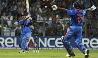धोनी ने 2011 के वर्ल्ड कप फाइनल में 91 रन की शानदार पारी खेली थी (getty)