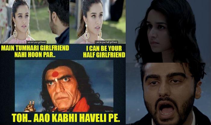 Half Girlfriend trailer meets Aao Kabhi Haweli Pe meme! Arjun-Shraddha Kapoor to get nightmares reading jokes about their film