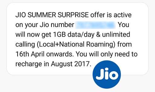 : Bonanza for Jio 4G internet subscribers, next recharge in August 2017
