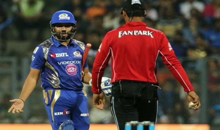 IPL 2017: Rohit Sharma reprimanded for showing dissent ...