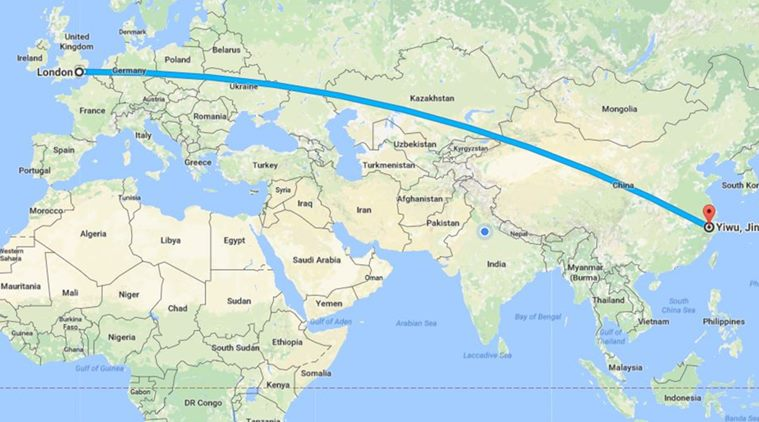 London china train completes 12000 km run here was the route the new route is longer than russias famous trans siberian railway but about 1000 kilometres shorter than the record holding china madrid link gumiabroncs Image collections