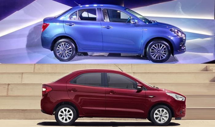 new maruti dzire 2017 vs ford aspire comparison price in india features mileage variants dimensions india com india com