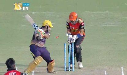 राशिद ने अपने पहले ही ओवर में किया गंभीर को बोल्ड (bcci)