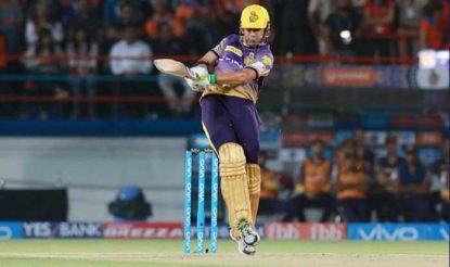गंभीर ने लिन के साथ मिलकर पहले विकेट के लिए 184 रन की नाबाद साझेदारी की (iplt20.com)