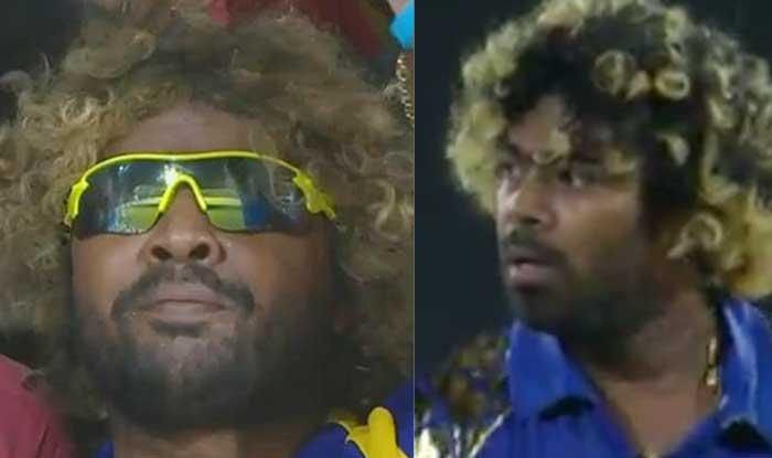 IPL 2017: Two Malingas spotted during Gujarat Lions vs Mumbai Indians  match, know how । IPL 2017: जब राजकोट में गुजरात vs मुंबई मैच में दिखे दो  मलिंगा! - Ipl two malingas