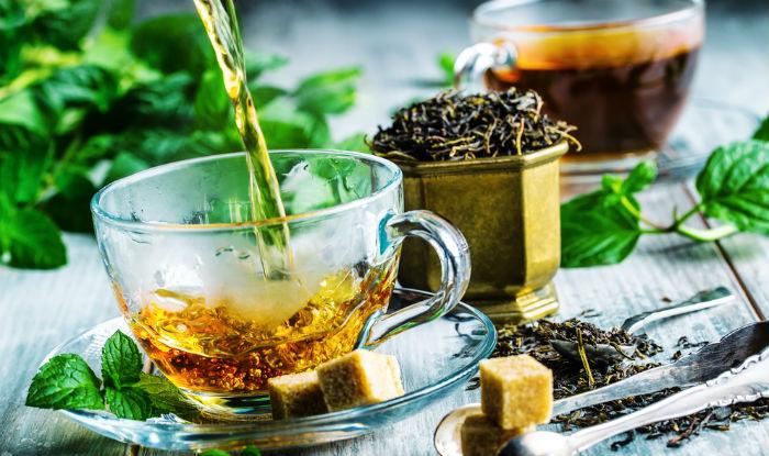 Tea rinse for hair