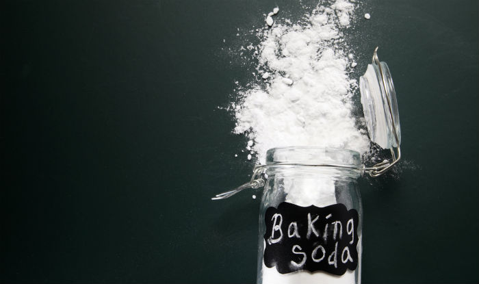 baking soda removes the excess oil and grime