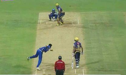 क्रुनाल की गेंद पर यूसुफ ने लंबा शॉट लगाया (bcci)