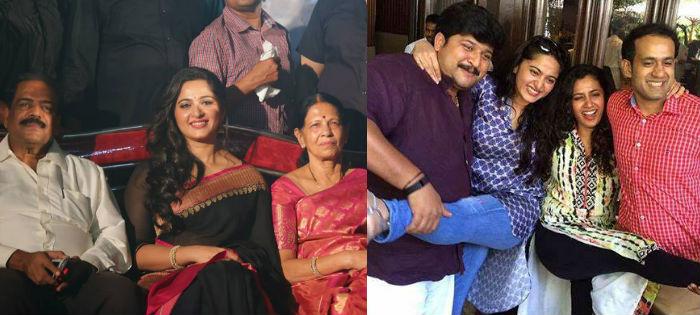 Anushka Shetty with family