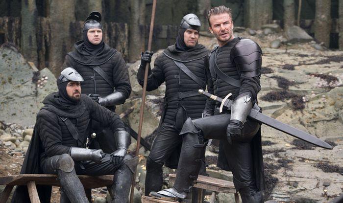 David Beckham in King Arthur.