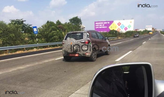 Ford Ecosport 2017 Facelift Spied Testing in India