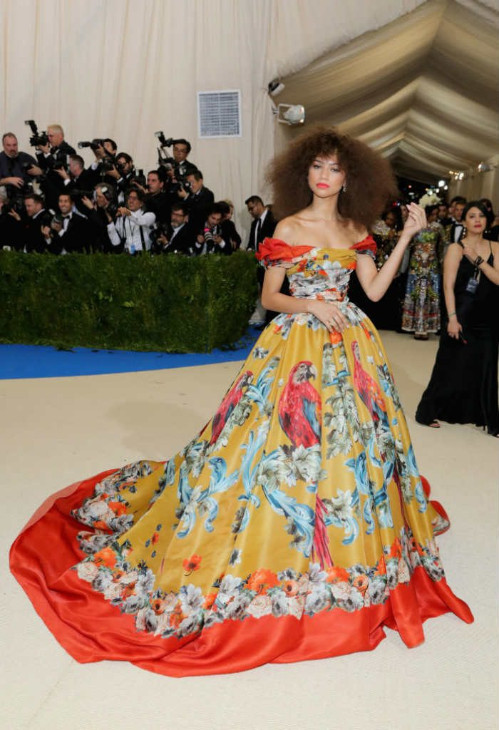 Zendaya made heads turn at the Met Gala red carpet in an off-the-shoulder ball gown