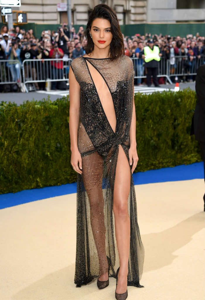 Kendall Jenner also ended up strutting a lot of flesh on the Met Gala 2017 red carpet