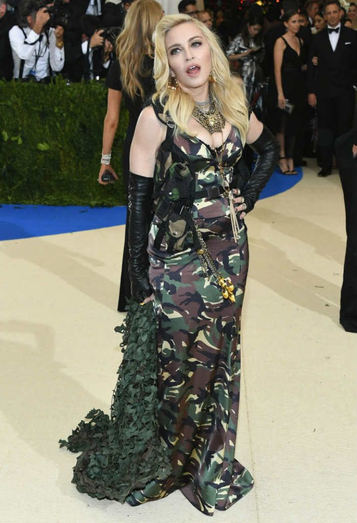 Madonna chose to dress in the military style for the red carpet