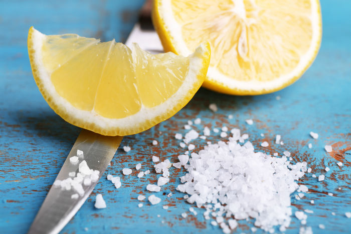 Lemon and salt