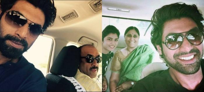 Rana Daggubati mom and sister father