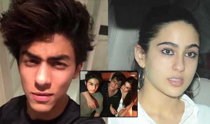 Shah Rukh Khan S Picture With Sara Ali Khan And Aryan Khan