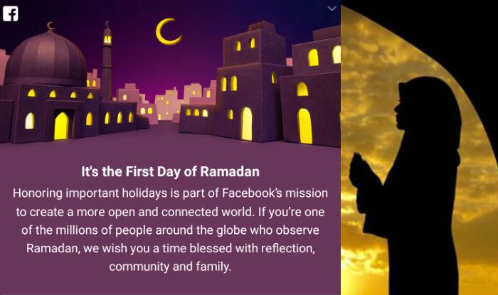 ramadan mubarak wishes facebook celebrates first day of holy month